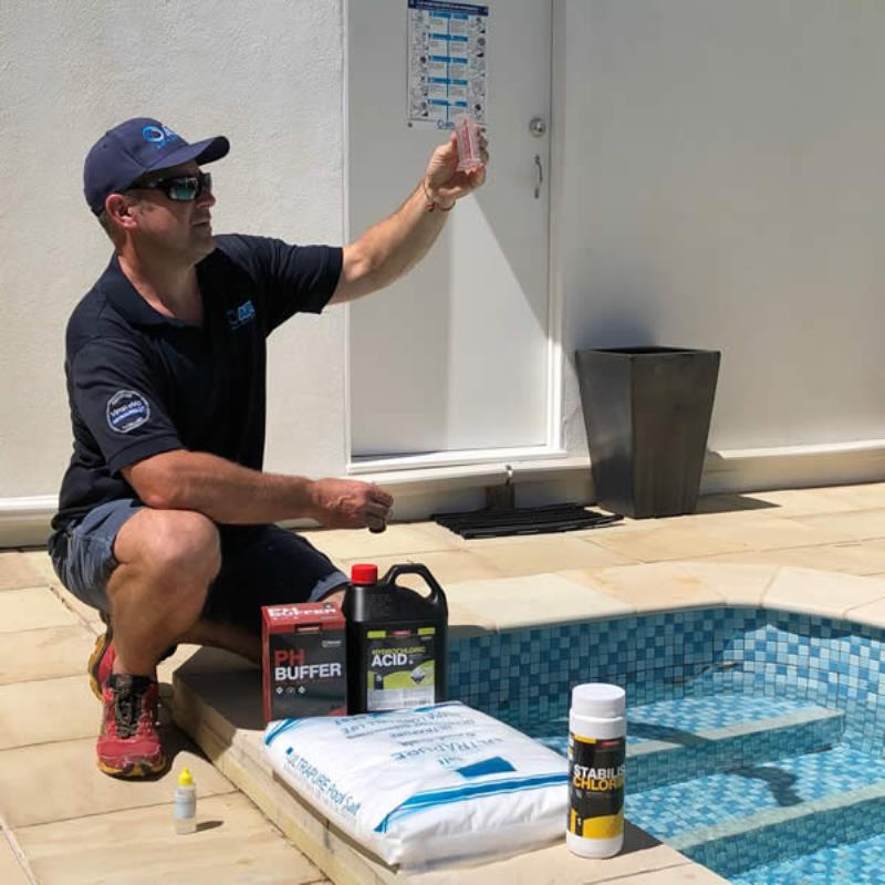 Commercial pool water testing
