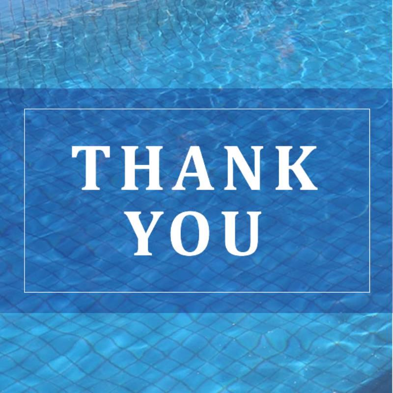 Active Pool Supplies thank you