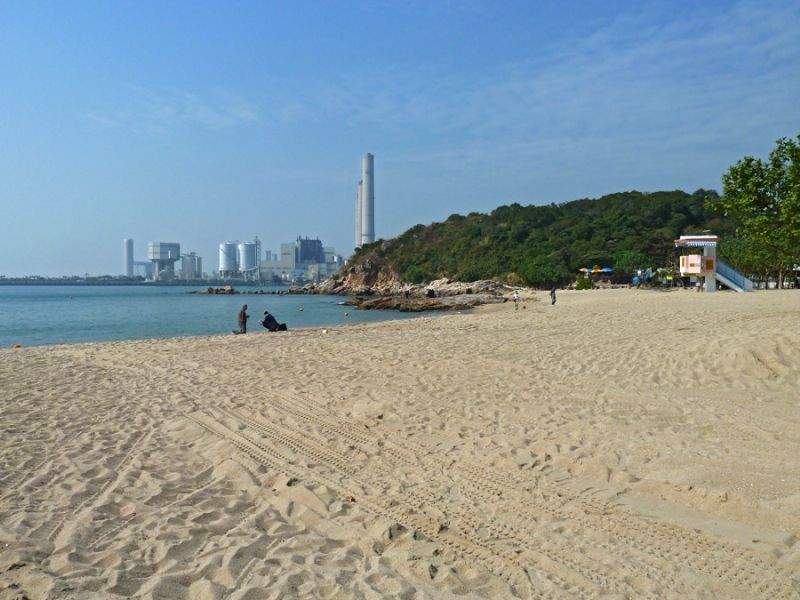 Ironic beach and power station