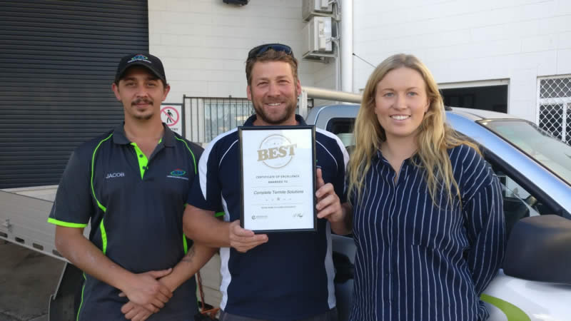CTS Termite & Pest Control - Certificate as one of Queensland's Best