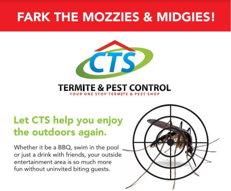 Let CTS help you enjoy the outdoors again. Whether it be a BBQ, swim in the pool or just a drink with friends, your outside entertainment area is so much more fun without uninvited biting guests.