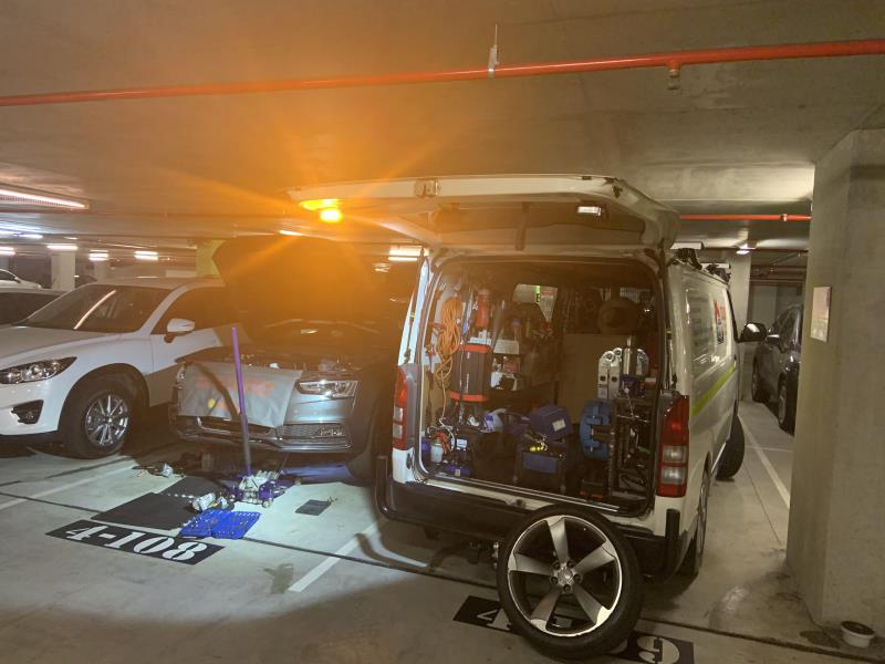 Audi engine mount replacement, Indooroopilly