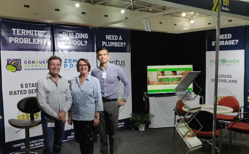 At the Brisbane Home Show