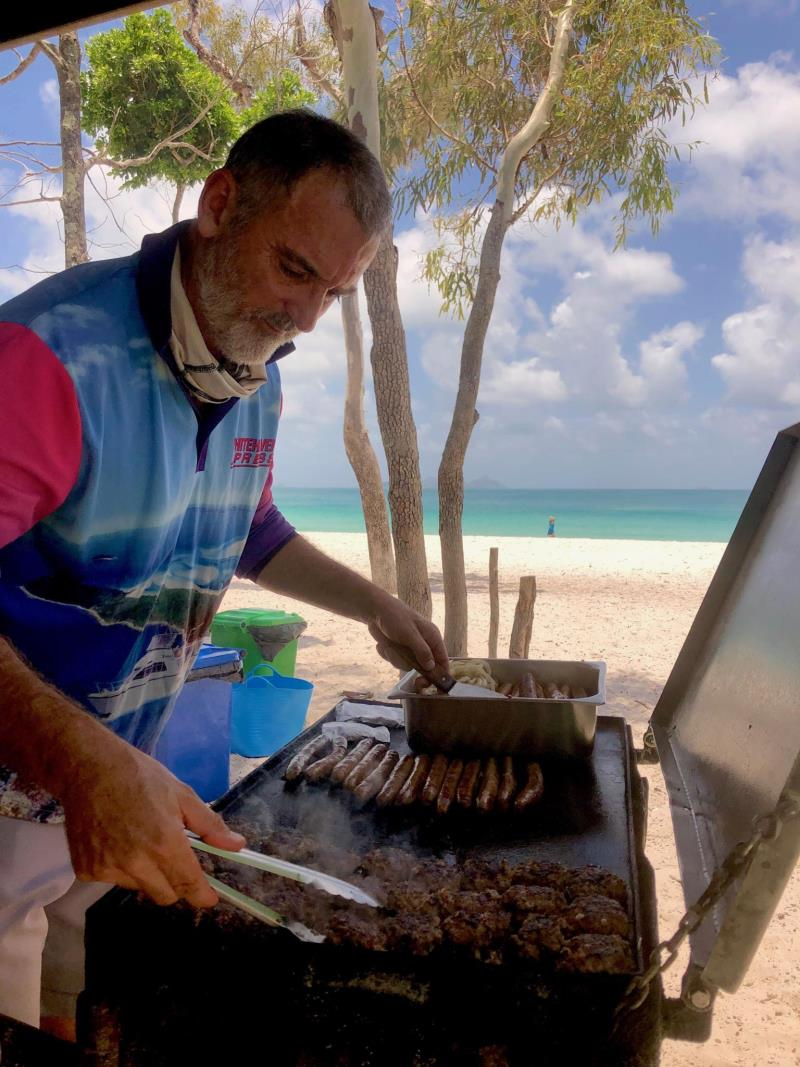 Whitehaven Beach BBQ cooked by Whitehaven Xpress Capt Shane