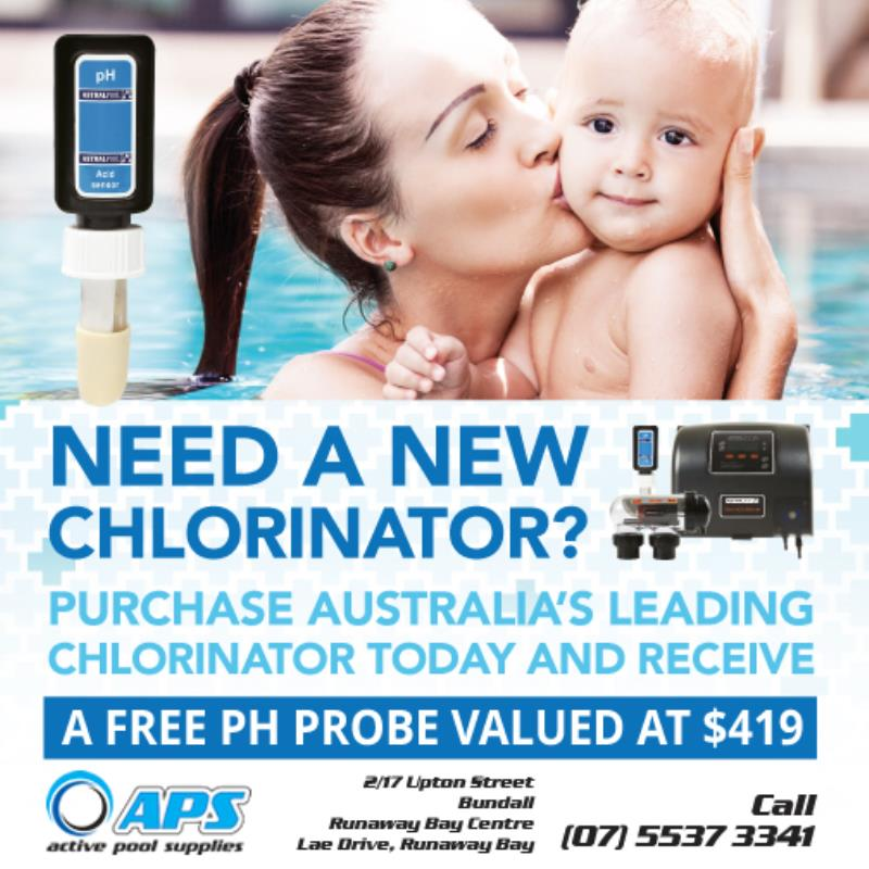 Pool chlorinator and PH probe offer