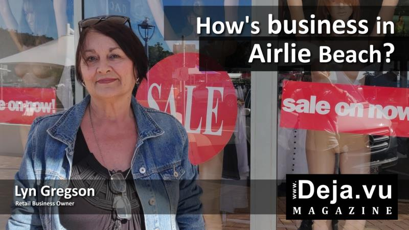 Lyn Gregon talks about the lack of Business in Airlie Beach