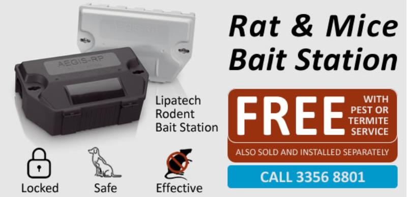 *** LIMITED OFFER *** : Rodent Bait Station with every pest or termite service