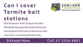 Can I cover termite bait stations?