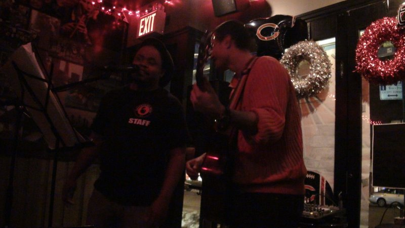 Troy Jackson and Philipe at Gael Pub, 3rd Ave
