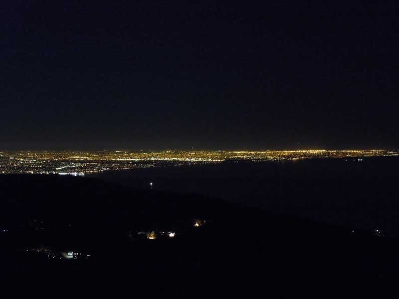 Lights of City from hill behind Malibu (placemarker)