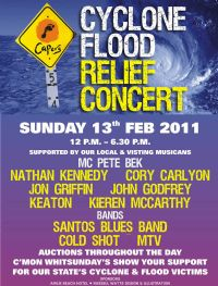 Cyclone flood Benefit at Airlie Beach