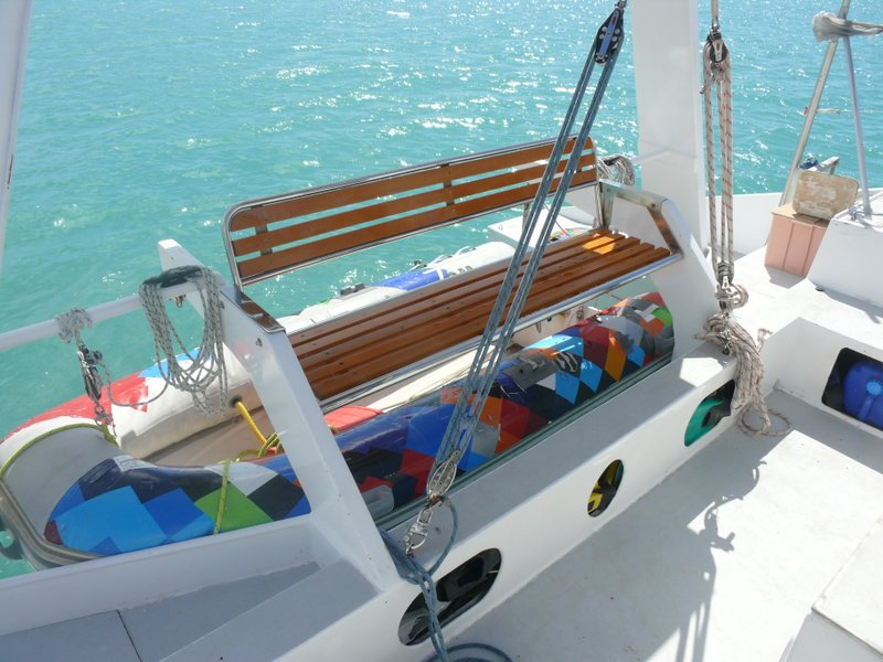 Cockpit seating and Davits (Tender has been replaced)