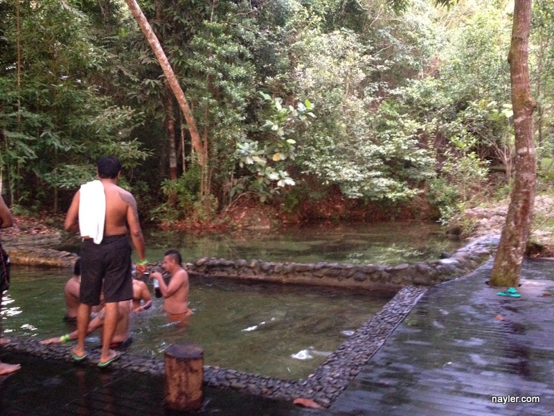 Rainforest water hole complete with India fun baptisms