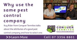 Why use the same pest control company - with Kuy Rider