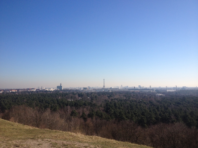 View to the city from the Teufelsberg
