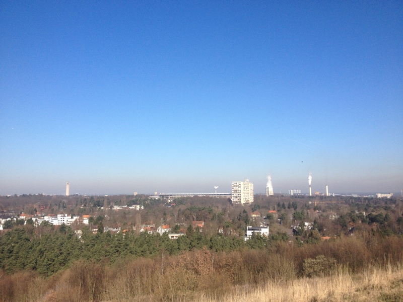 Olympic stadium from hill top