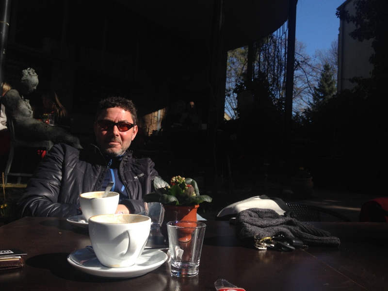 Coffee with host Tom