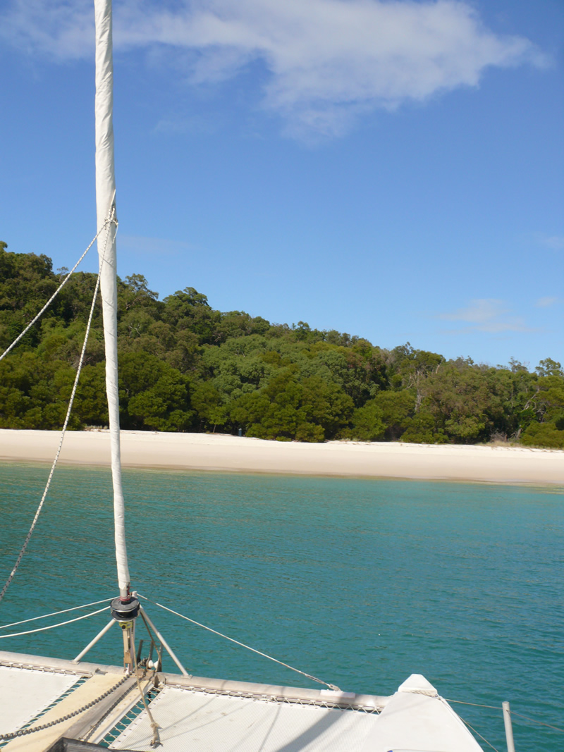 Parked up at Whitehaven Beach South