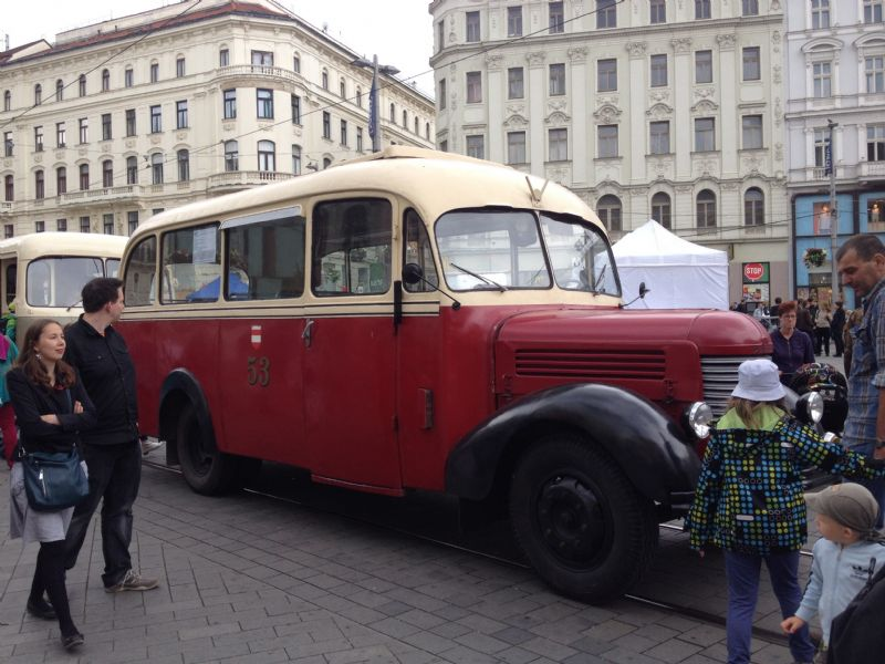 Old bus in Brno