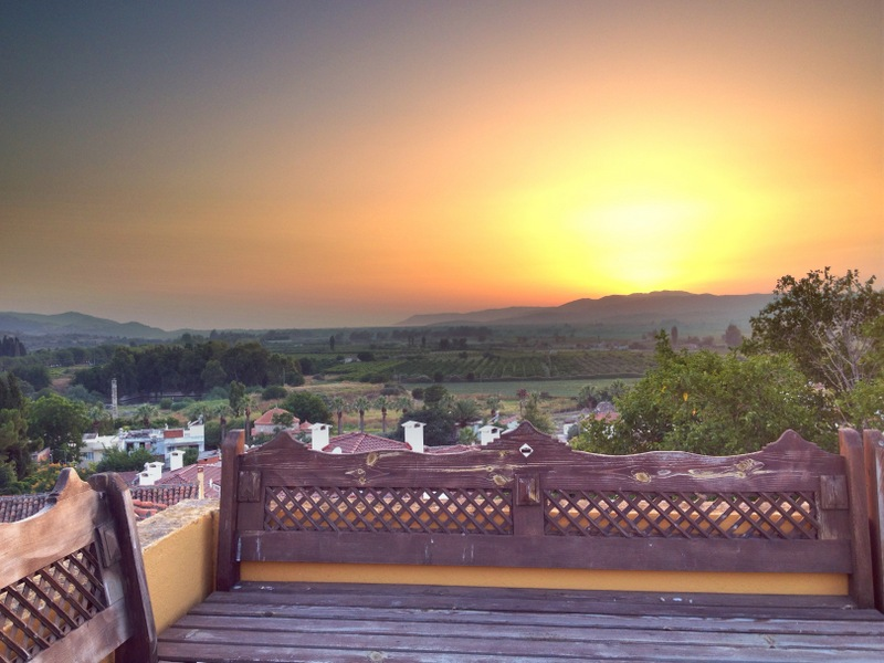 Sunset view from Homeros Pension