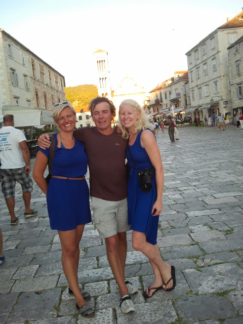 Ashore with the crew Hvar