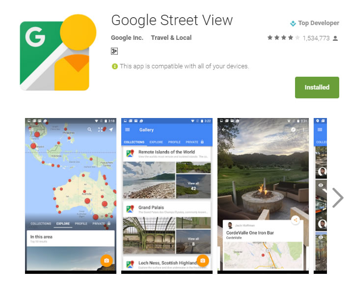 Google Streetview for Android