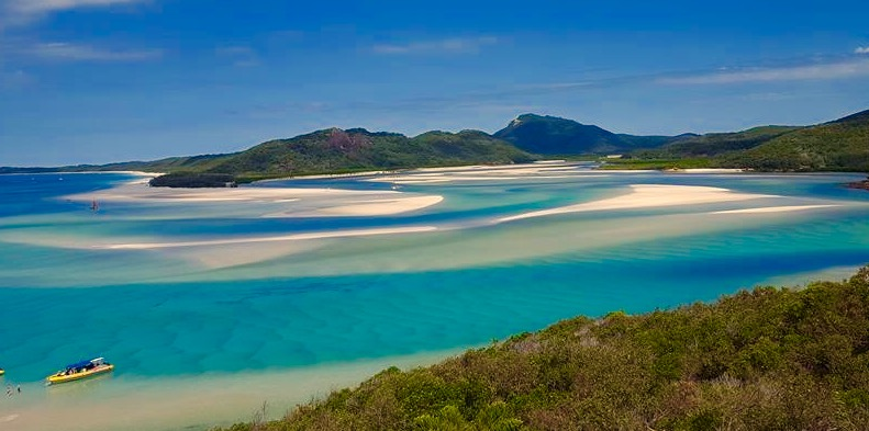 Whitehaven Beach Day Tours visits Hill Inlet