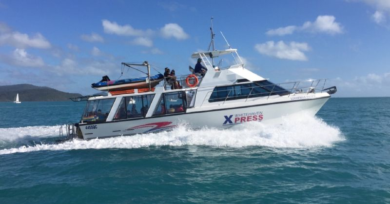 from Airlie Beach to Whitehaven Beach in a hurry