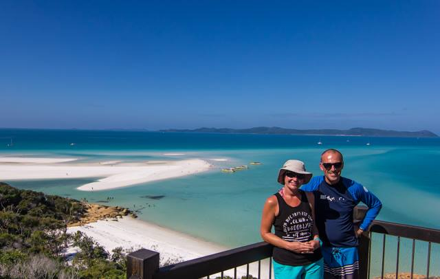 Hill Inlet Lookout on the Whitehaven Beach Day tour cruise